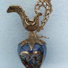 Antigüedades: ANTIGUO JARRÓN TODO METAL BRONCE DECORADO. Lote 232420825
