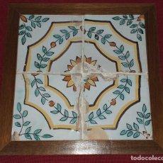 Antigüedades: CUADRO DE AZULEJOS FINALES SIGLO XIX. Lote 232429295