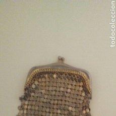 Antigüedades: MONEDERO EN MALLA METALICA ,MIDE9X7.. Lote 232446603