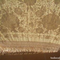 Antigüedades: MANTON DE MANILA ANTIGUO EN PERFECTO ESTADO. FLECADO ESPECTACULAR.. Lote 193942751