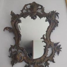 Antigüedades: CORNUCOPIA ESPEJO EN BRONCE 74X 52 CM., BUEN ESTADO. Lote 232498690