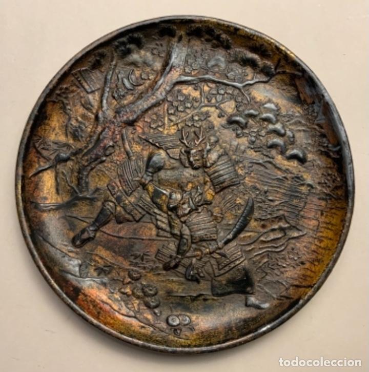 PLATO METAL COREANO (S.XIX) (Antigüedades - Hogar y Decoración - Platos Antiguos)