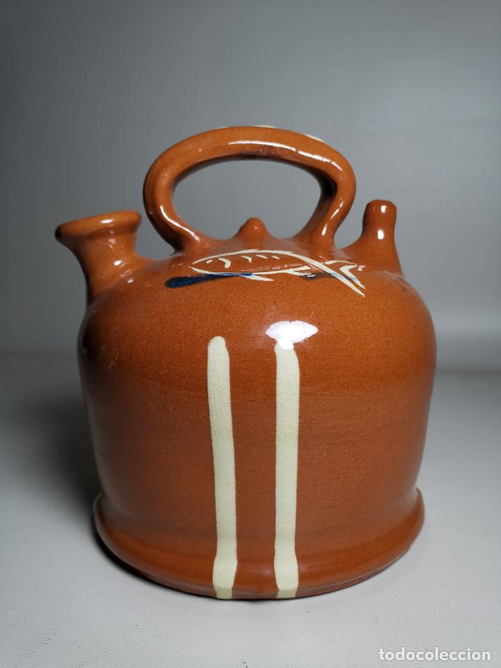 ANTIGUO BOTIJO DE COLECCION-CANTIR-DE BARCO -BARCA--DE LA BISBAL- (Antigüedades - Porcelanas y Cerámicas - La Bisbal)