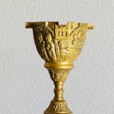 Antigüedades: CENICERO PIE BRONCE. Lote 232592065