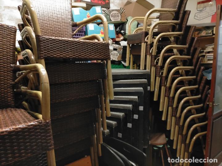 Antigüedades: SOLO RECOGIDA CADIZ CAPITAL CENTRO 24 sillas y 6 mesas de terraza BAR RESTAURANTE - Foto 46 - 229701075
