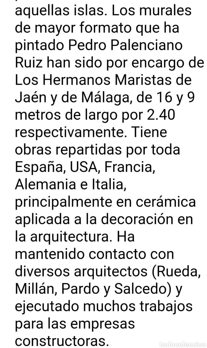 Antigüedades: Pedro Palenciano Ruiz - Jesús Adolescente/San Juan?.Retablo Cerámico.Firmado. - Foto 4 - 232512360