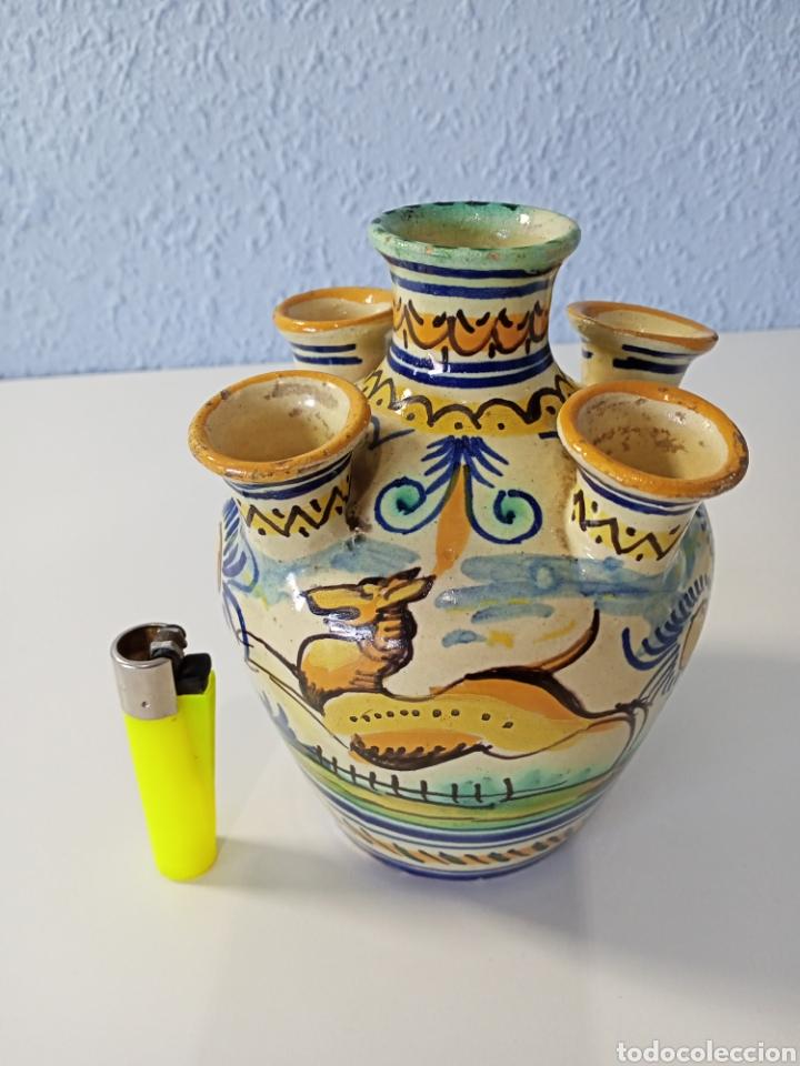 JARRÓN TRIANA 5 BOCAS (Antigüedades - Porcelanas y Cerámicas - Triana)