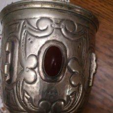 Antigüedades: CÁLIZ DE METAL PLATEDO. Lote 232638250