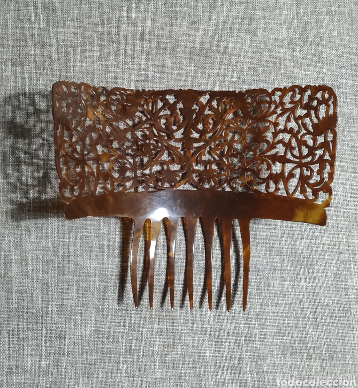 Antigüedades: Peineta de carey, antigua Española - Foto 2 - 232719415
