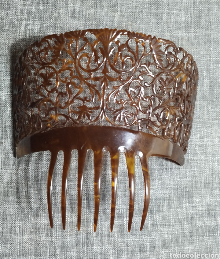 Antigüedades: Peineta de carey, antigua Española - Foto 3 - 232719415