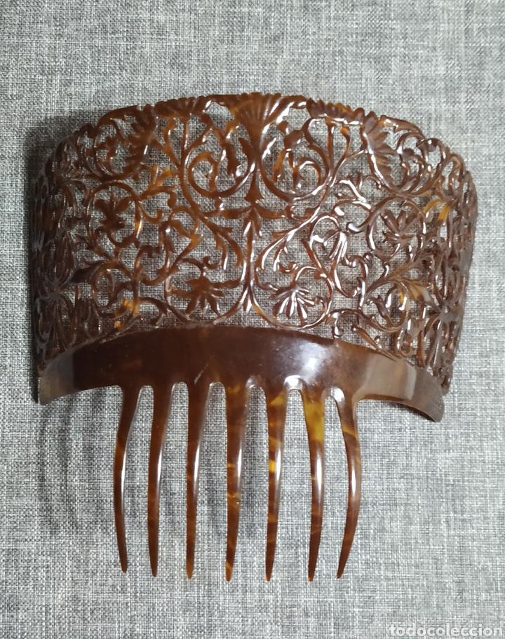 Antigüedades: Peineta de carey, antigua Española - Foto 5 - 232719415
