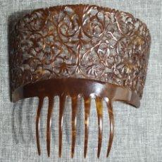 Antigüedades: PEINETA DE CAREY, ANTIGUA ESPAÑOLA. Lote 232719415
