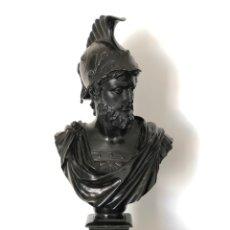 Antigüedades: BUSTO CLÁSICO DE HÉROE ROMANO CIRCA 1.950. Lote 232724100