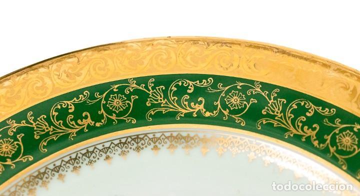 Antigüedades: Un plato porcelana Limoge muy bonito de porcelana antigua pintado a mano - Foto 4 - 232730305