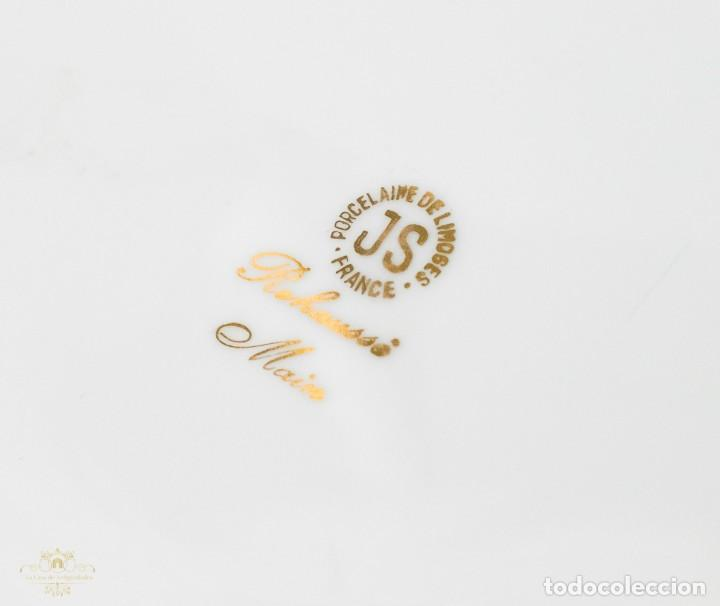 Antigüedades: Un plato porcelana Limoge muy bonito de porcelana antigua pintado a mano - Foto 5 - 232730305