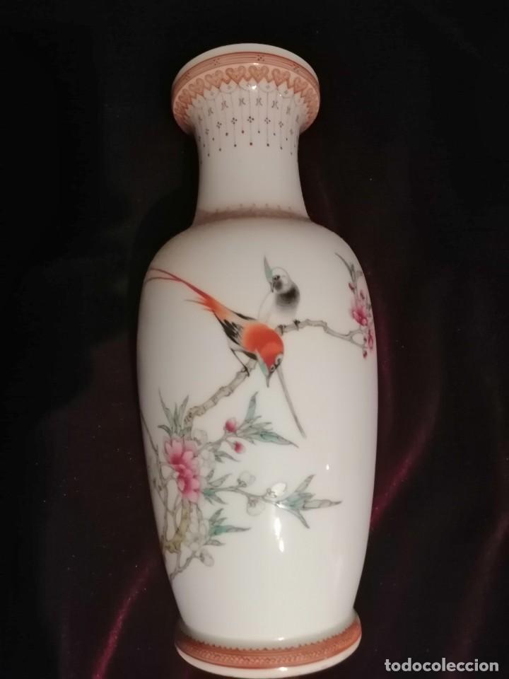 JARRÓN CERÁMICA CHINA (Antigüedades - Porcelanas y Cerámicas - China)