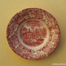 Antigüedades: ANTIGUO PLATO PORCELANA PICKMAN LA CARTUJA, SERIE ROSA 202, 24 CM DIÁMETRO.. Lote 232757600