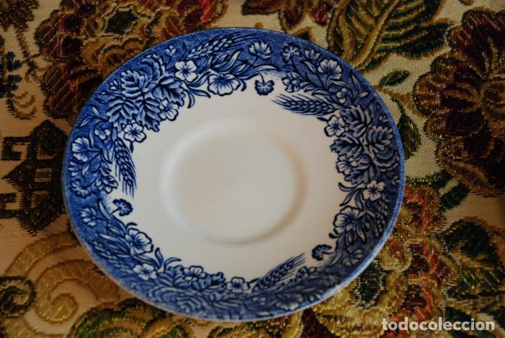 Antigüedades: Vajilla inglesa Churchill. 16 platos de tres tamaños. 24, 20 y 13 cm. Bella decoración. Siglo XX. - Foto 3 - 232761685