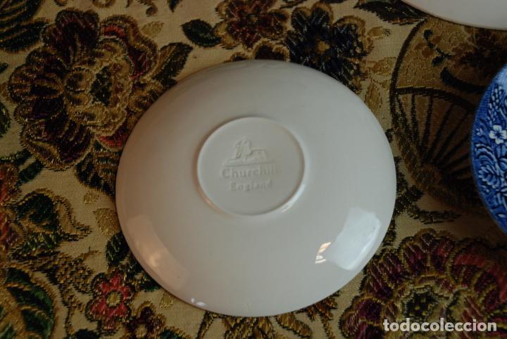 Antigüedades: Vajilla inglesa Churchill. 16 platos de tres tamaños. 24, 20 y 13 cm. Bella decoración. Siglo XX. - Foto 8 - 232761685