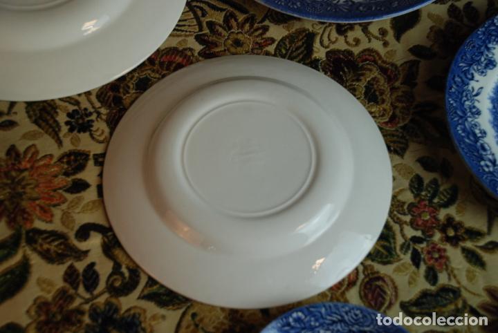 Antigüedades: Vajilla inglesa Churchill. 16 platos de tres tamaños. 24, 20 y 13 cm. Bella decoración. Siglo XX. - Foto 9 - 232761685