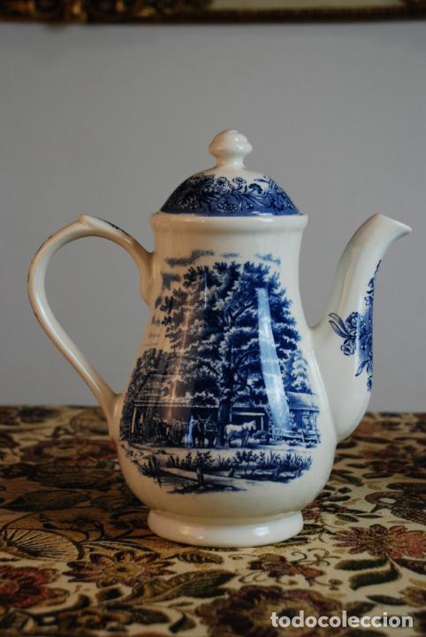 Antigüedades: Conjunto de 4 piezas de vajilla inglesa Churchill. Currier & Ives. Muy bella decoración. Siglo XX. - Foto 2 - 232763605