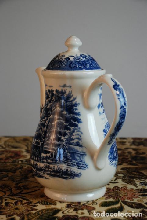 Antigüedades: Conjunto de 4 piezas de vajilla inglesa Churchill. Currier & Ives. Muy bella decoración. Siglo XX. - Foto 4 - 232763605