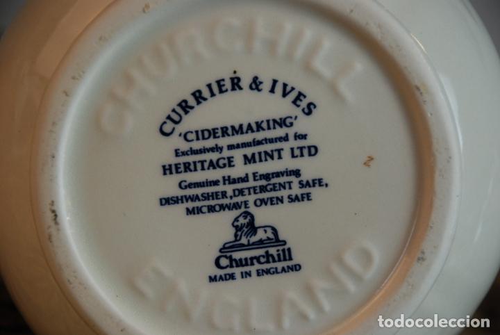 Antigüedades: Conjunto de 4 piezas de vajilla inglesa Churchill. Currier & Ives. Muy bella decoración. Siglo XX. - Foto 5 - 232763605