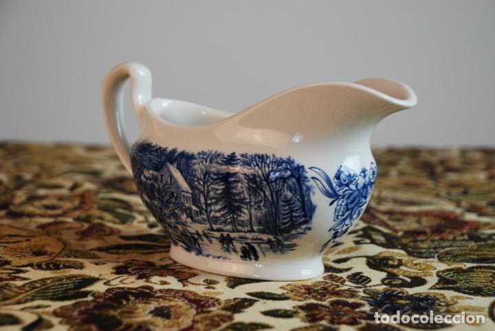 Antigüedades: Conjunto de 4 piezas de vajilla inglesa Churchill. Currier & Ives. Muy bella decoración. Siglo XX. - Foto 12 - 232763605