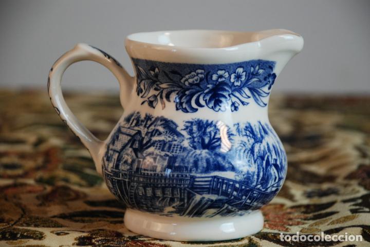 Antigüedades: Conjunto de 4 piezas de vajilla inglesa Churchill. Currier & Ives. Muy bella decoración. Siglo XX. - Foto 14 - 232763605