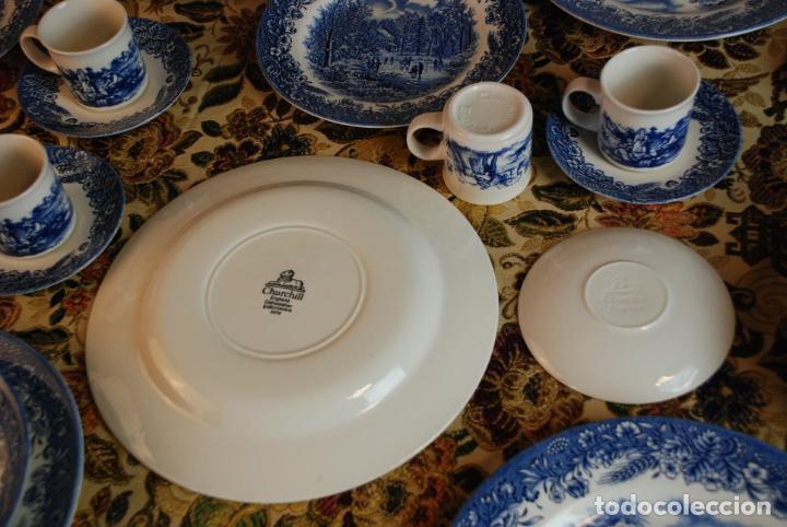 Antigüedades: Conjunto de 30 bellas piezas de vajilla inglesa Churchill. Siglo XX. - Foto 7 - 232785145