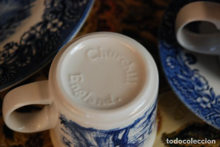 Antigüedades: Conjunto de 30 bellas piezas de vajilla inglesa Churchill. Siglo XX. - Foto 10 - 232785145