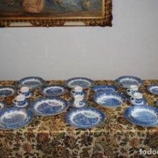 Antigüedades: CONJUNTO DE 30 BELLAS PIEZAS DE VAJILLA INGLESA CHURCHILL. SIGLO XX.. Lote 232785145
