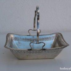 Antigüedades: CESTA EN METAL CHAPADO EN PLATA. EPNS. Lote 232792285