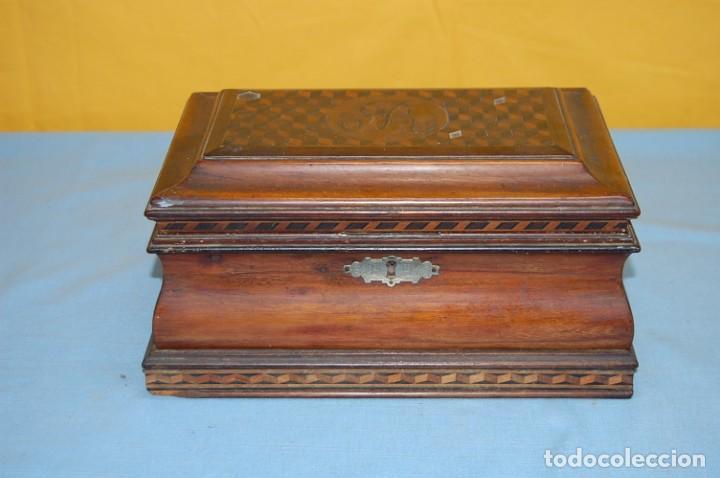 Antigüedades: PRECIOSA CAJA COSTURERO S.XIX - Foto 2 - 232831165