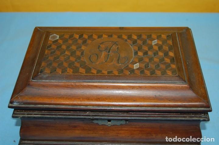 Antigüedades: PRECIOSA CAJA COSTURERO S.XIX - Foto 3 - 232831165