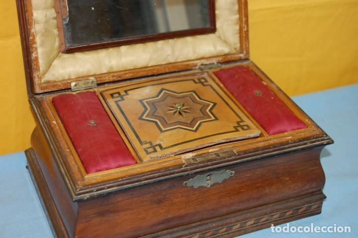 Antigüedades: PRECIOSA CAJA COSTURERO S.XIX - Foto 4 - 232831165