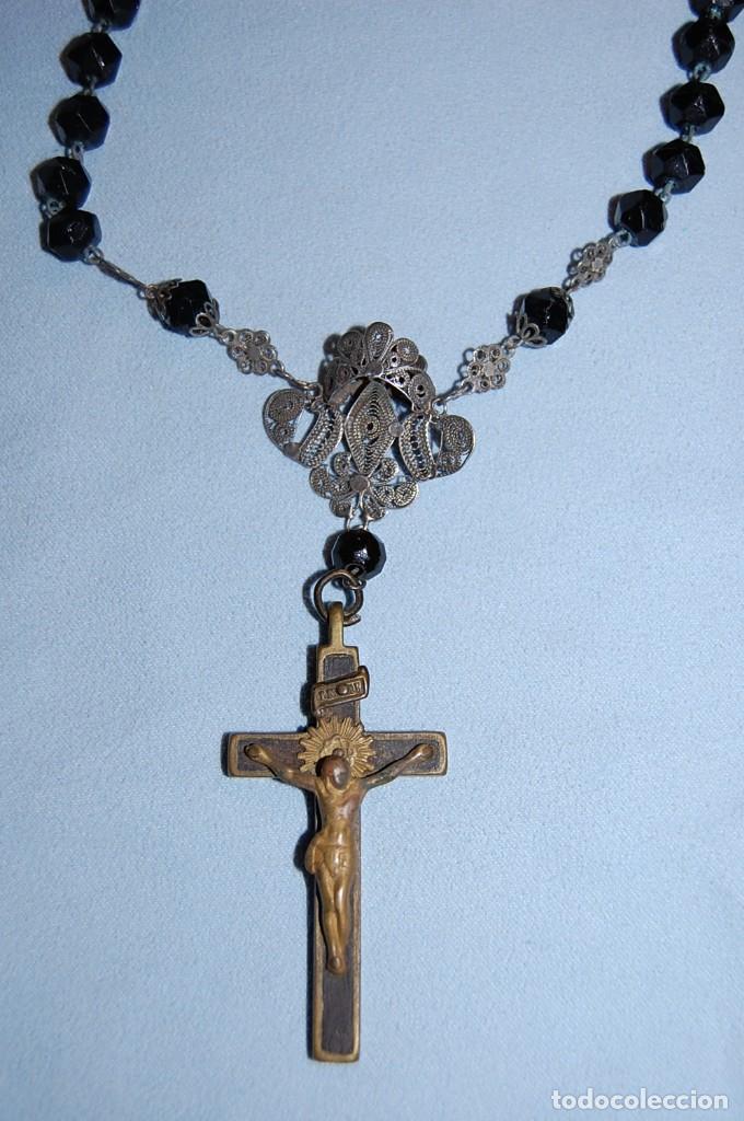 ROSARIO MANO CINCO CUENTAS (Antigüedades - Religiosas - Rosarios Antiguos)