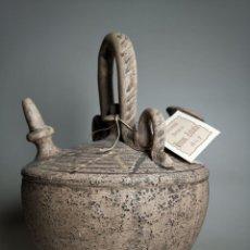 Antigüedades: ANTIGUO BOTIJO DE COLECCION-CANTIR DE PUENTE DEL ARZOBISPO--TOLEDO...FIRMADO ZABALA. Lote 232860273