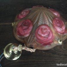 Antiquités: LÁMPARA DE CRISTAL DE ROCA. Lote 232862022