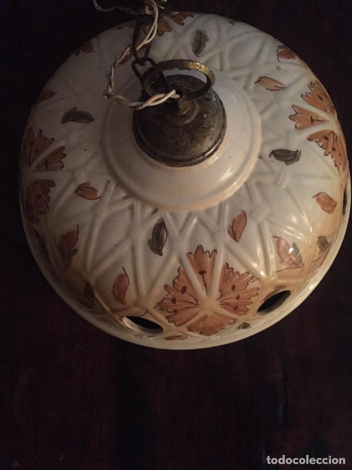 LÁMPARA DE TECHO DE CERÁMICA (Antigüedades - Iluminación - Lámparas Antiguas)