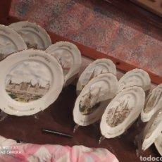 Antigüedades: COLECCIÓN COMPLETA DE PORCELANA Y RELIEVE DE ORO CONMEMORATIVAS DE LOS TESOROS DE ESPAÑA. Lote 232885580