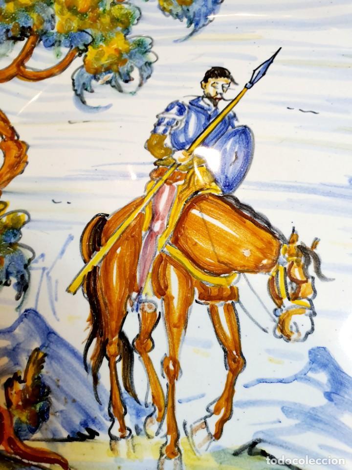Antigüedades: DON QUIJOTE DE LA MANCHA PLATO CERAMICA DE TALAVERA - Foto 2 - 232889766