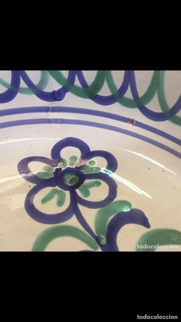Antigüedades: Antiguo plato granadino fajalauza - Foto 2 - 232905070