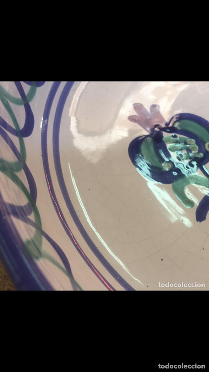 Antigüedades: Antiguo plato granadino fajalauza - Foto 3 - 232905070