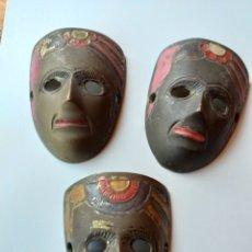 Oggetti Antichi: TRES MASCARAS MADE IN INDIA. Lote 232948575