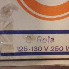 Antigüedades: 18-00199 -BOMBILLA OSRAM -SECATERM- ROJO- 125V-250W (OJO ). Lote 232961690