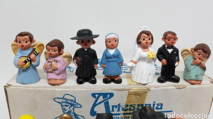 Antigüedades: SET 24 FIGURAS ALBOROX BARRO COCIDO TERRACOTA EN CAJA ORIGINAL COMPLETA Y NUEVAS Y TODAS DISTINTAS - Foto 9 - 232980015