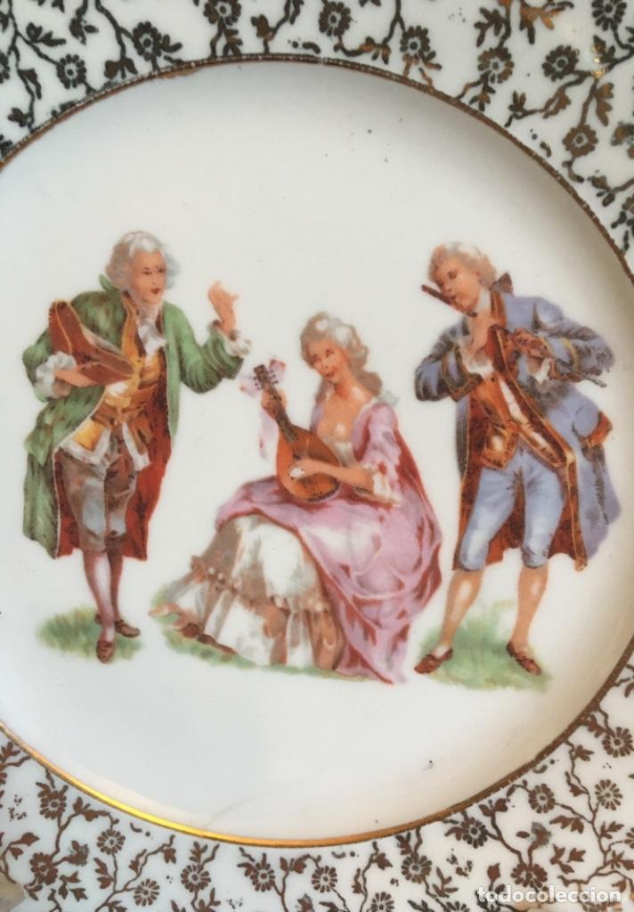 Antigüedades: Platos porcelana Santa Clara - Foto 3 - 232981215
