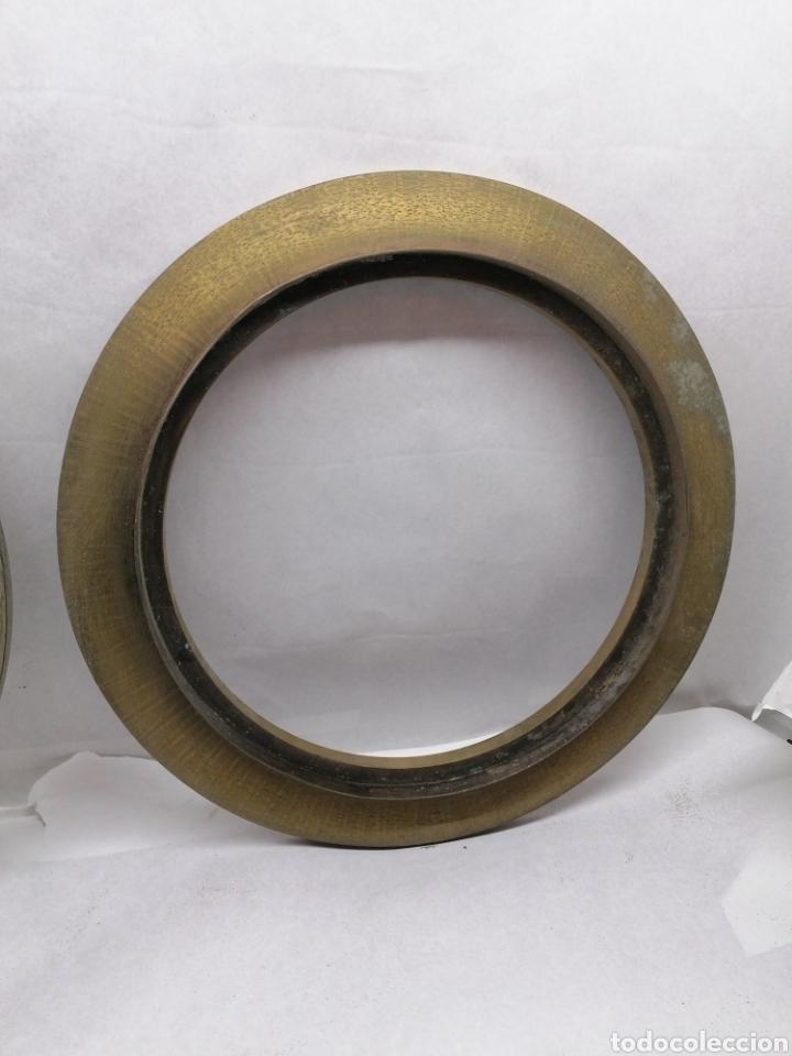 Antigüedades: Pareja Marcos metálicos - Foto 2 - 232995850