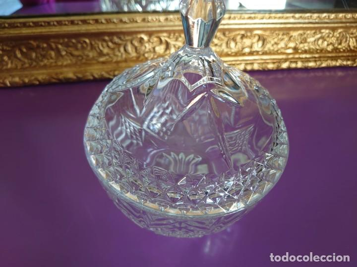 Antigüedades: BOMBONERA CRISTAL DE BOHEMIA CHECO - Foto 4 - 233026900